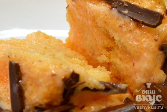 Сливочно - апельсиновый десерт