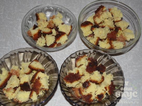 Бисквитный микс с вишневым вареньем