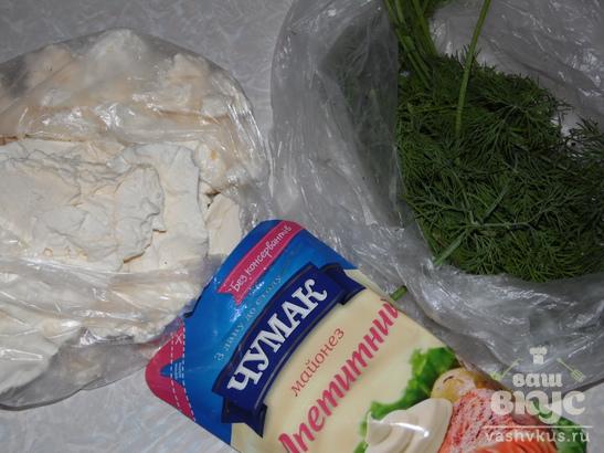 Закуска или начинка из творога с зеленью