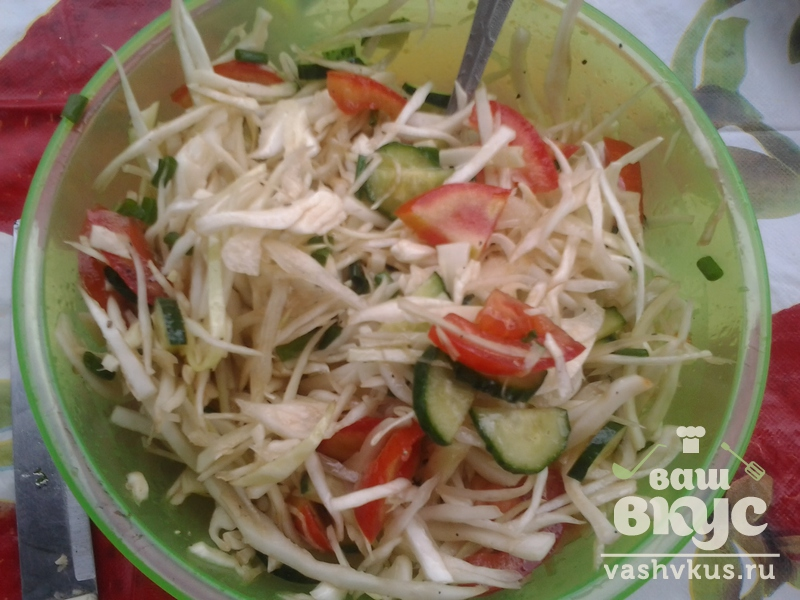 Салат из овощей с соевым соусом рецепт