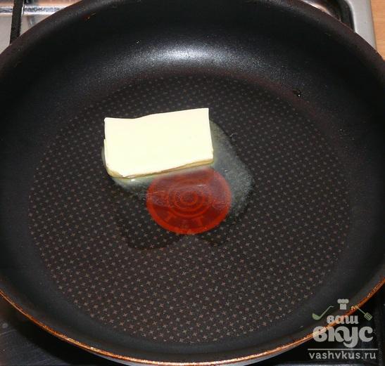 Жареная треска с соусом из каперсов