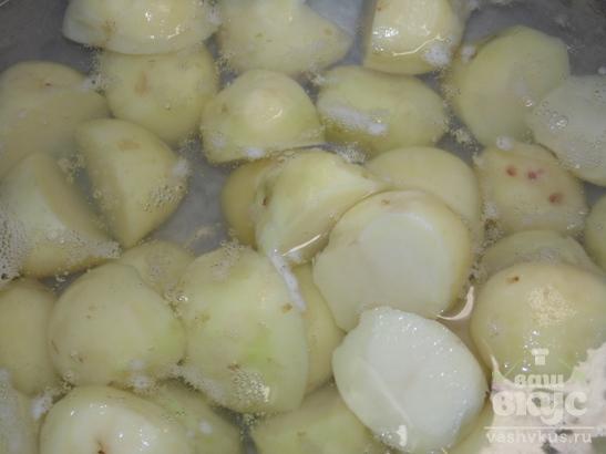Овощное рагу с гусиными голенями