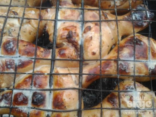 Куриные ножки в соевом соусе на мангале