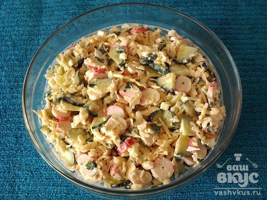 Крабовый салат с белокочанной капустой