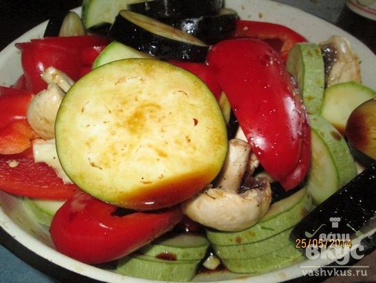 Овощи в маринаде на гриле