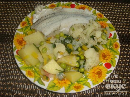 Рыба на пару с овощами