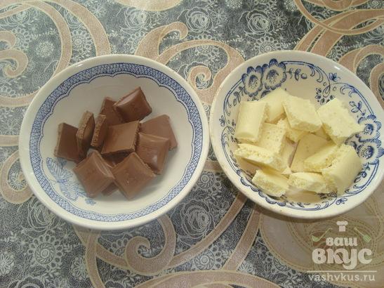 Клубника в молочном и белом шоколаде
