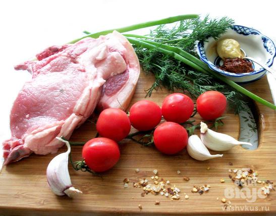 Антрекот свиной в горчичном соусе