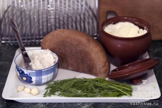 Гренки с козьим сыром