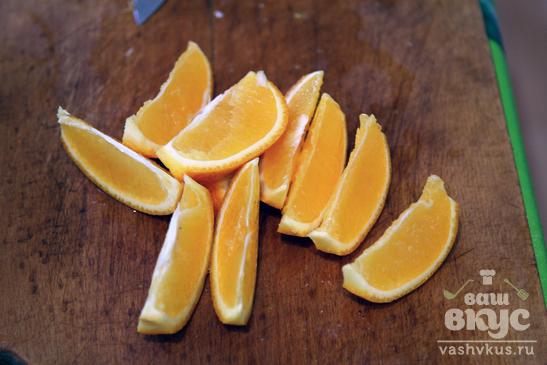 Жаркое из гусиной грудки с апельсинами