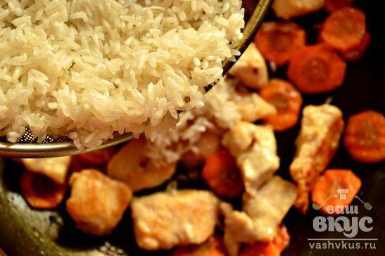 Рис с маринованной курочкой