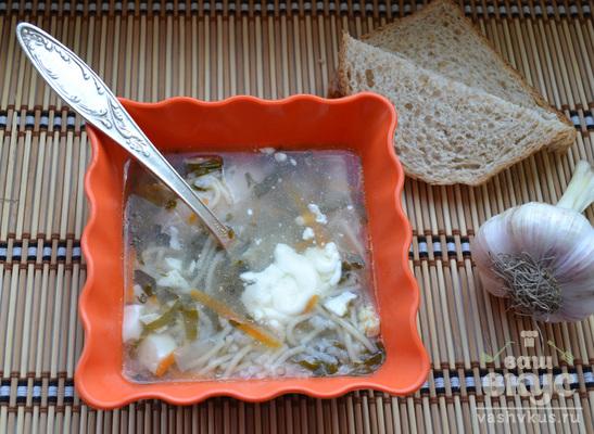 Куриный суп со щавелем в мультиварке