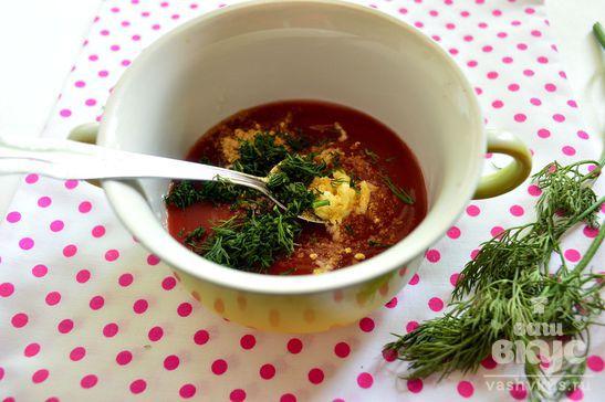 Соус для мясных блюд с молотым имбирем