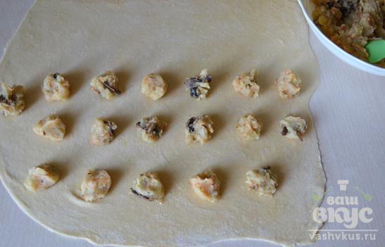 Равиоли с картофелем и грибами по-домашнему