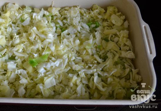 Запеканка с кабачками и капустой