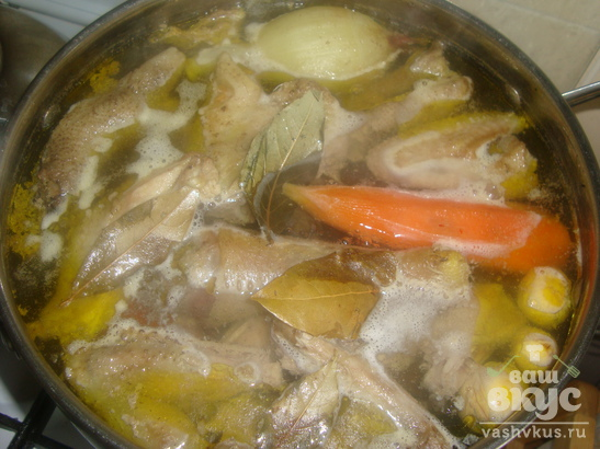 Рецепт куриного холодца с желатином с фото