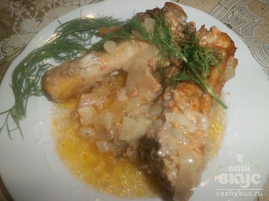 Куриные голени под соусом в духовке