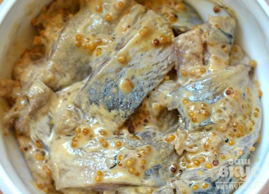 Сельдь маринованная в горчице
