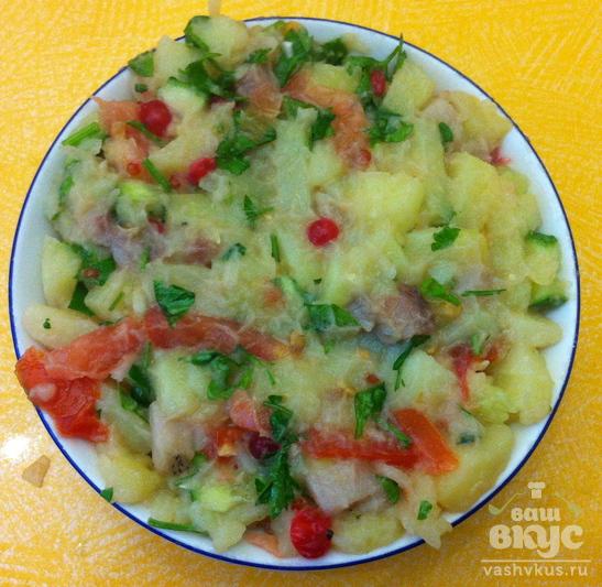 """Салат из сельди и картофеля """"Керченский"""""""