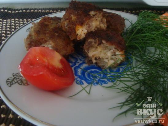 Биточки мясные с сыром