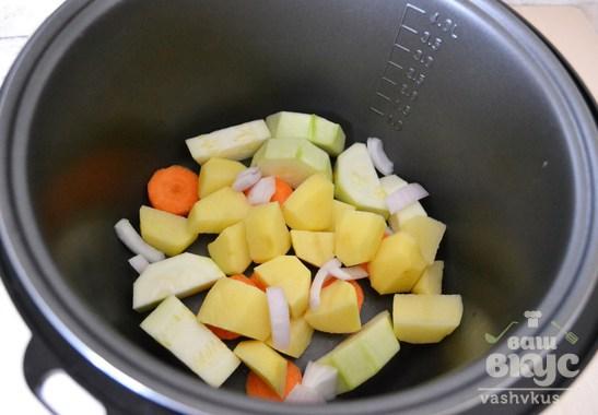 Детское овощное пюре в мультиварке