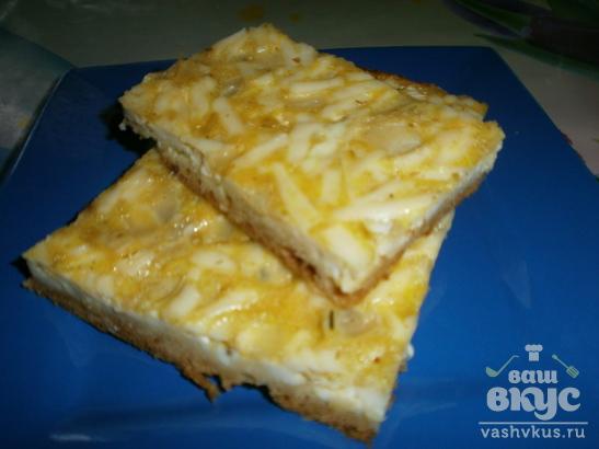 Пирог с начинкой из плавленного сырка