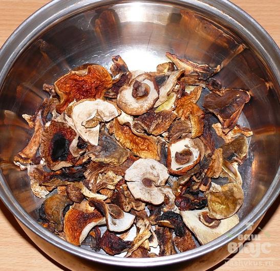 Блюда из грибов сушеных