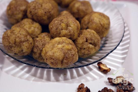 Лепёшки с грецкими орехами