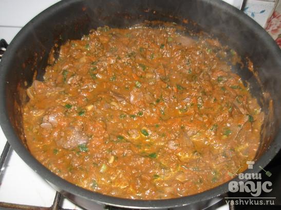 Подлива из куриной печени в томатном соусе