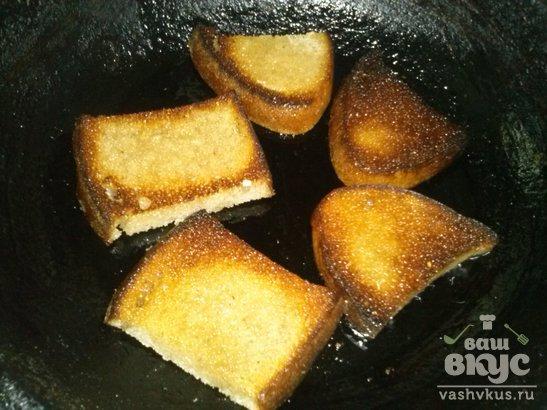 Гренки с чесноком из ржаного хлеба
