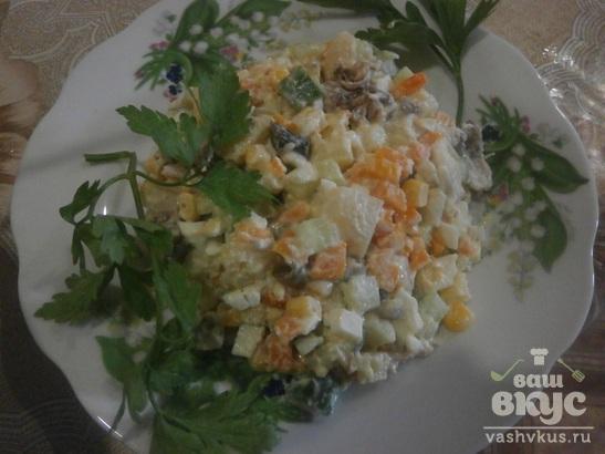 Салат из говядины и свежего огурца