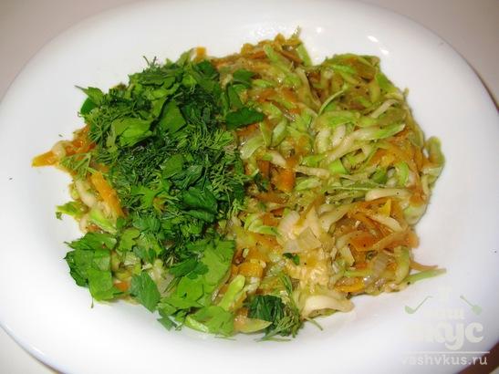 Теплый салат из цуккини и моркови