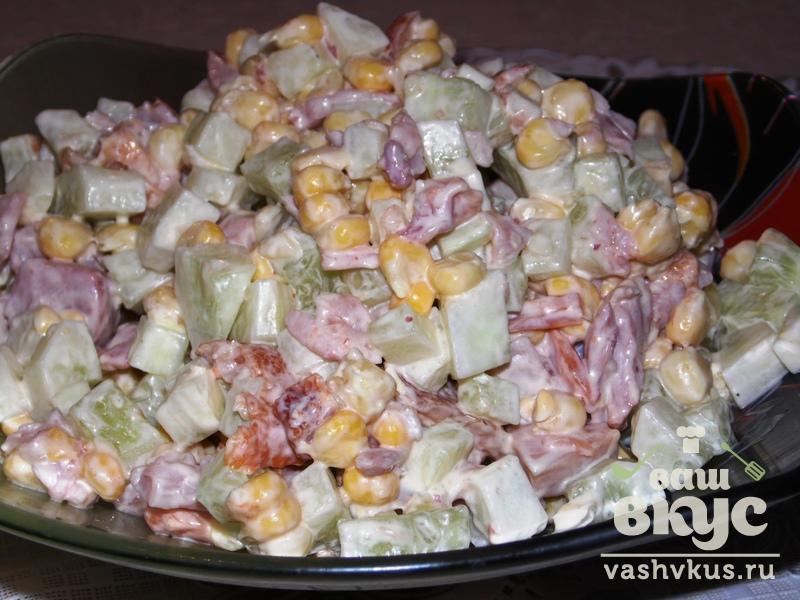 Салат с копчёной курицей пошаговый рецепт