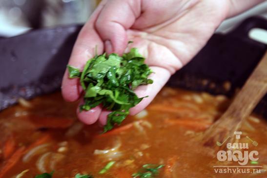 Пенне в бобово - овощном соусе