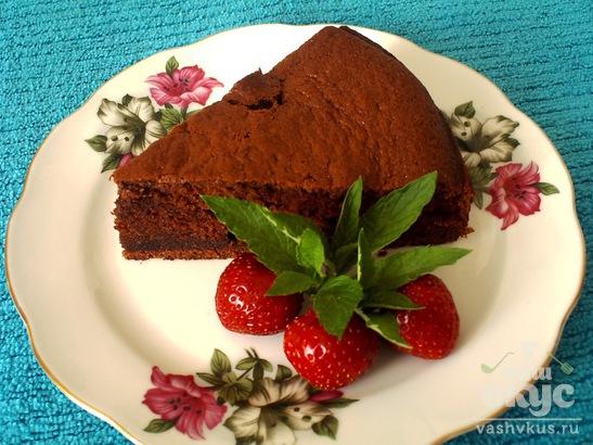 Шоколадный бисквит на сметане