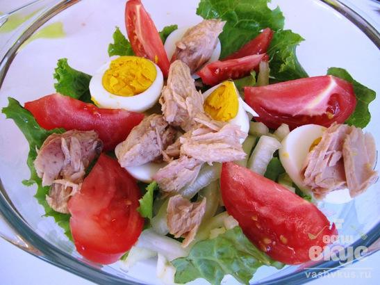 Прованский салат с тунцом