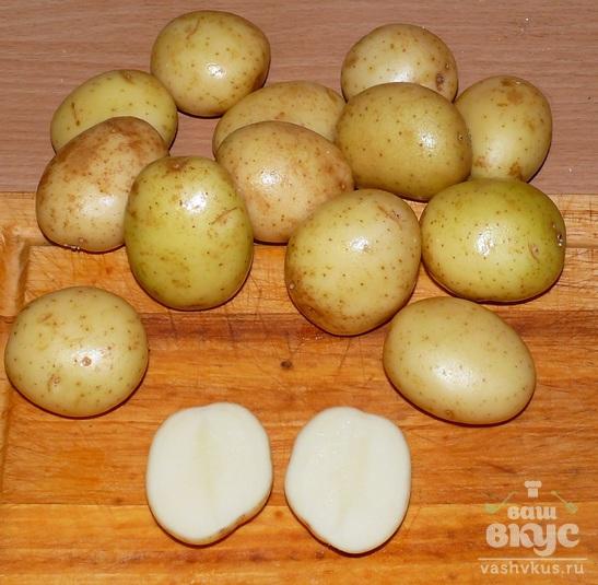 Кижуч, запечённый с картофелем