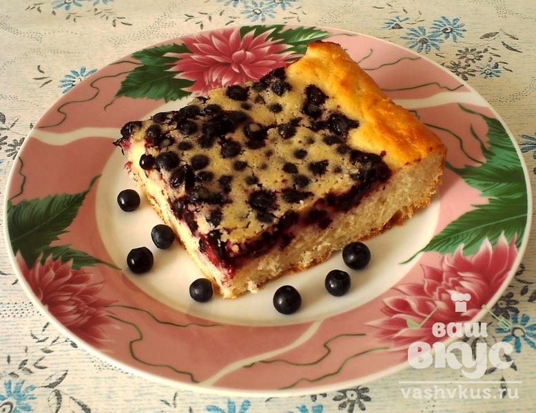 Наливной пирог с ягодами рецепт