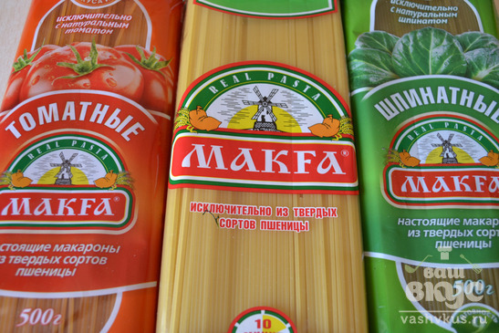 Спагетти с соусом «Бешамель»