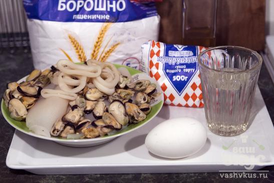 Морепродукты в темпуре