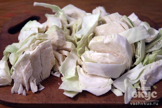 Свиные рёбра с капустой и маслятами