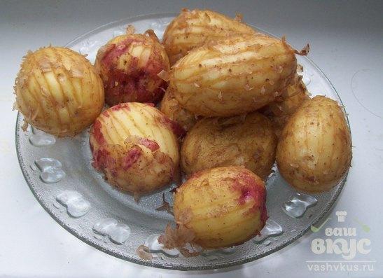 """Жареный картофель с чесноком """"Орешек"""""""
