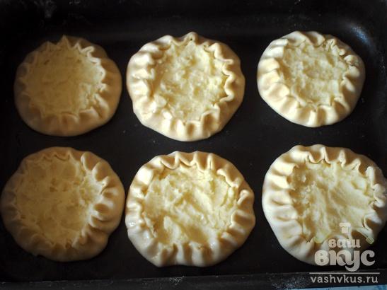 Картофельные шаньги из пресного теста