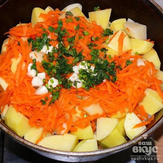 Говяжья грудинка тушеная с овощами