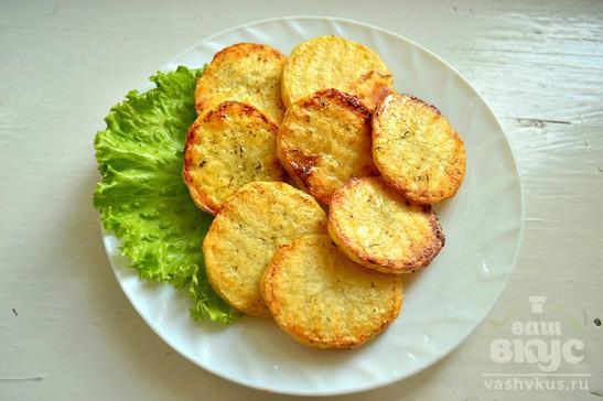 Жареный карась с запеченным картофелем