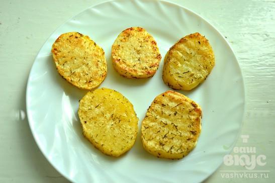 Закуска из печеного картофеля и творога