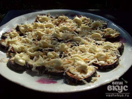 Баклажаны под сыром и перцем