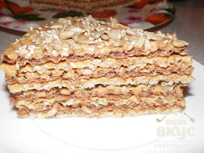Тортик с вареной сгущенкой рецепт