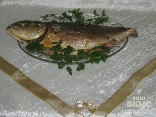 Рыба фаршированная овощами