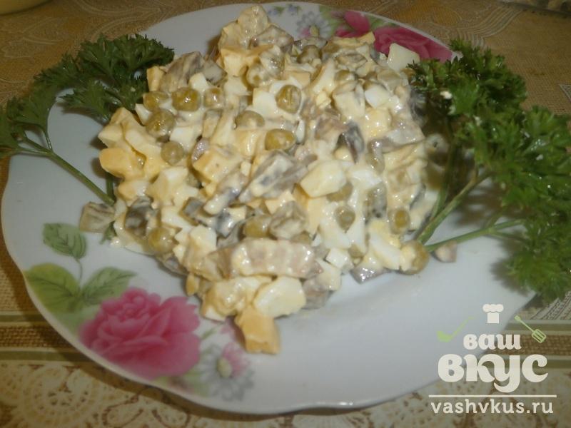 салат сердечный с соленым огурцом пошаговый рецепт